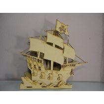 Barco pirata para centro de mesa!