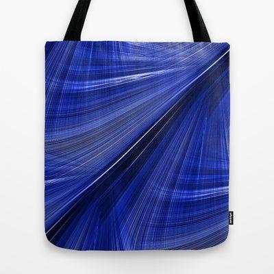 Indigo Blue Electric Highway Tote Bag by Rokin Art by RokinRonda - $22.00