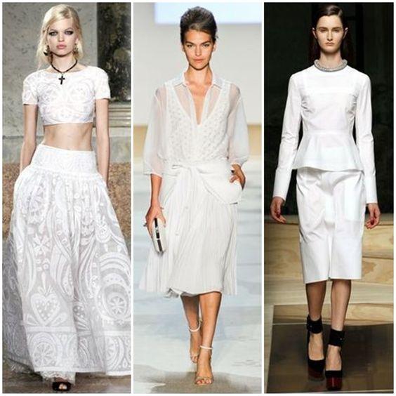 looks brancos   Nas coleções de Inverno, também vimos o look Branco Total em ...