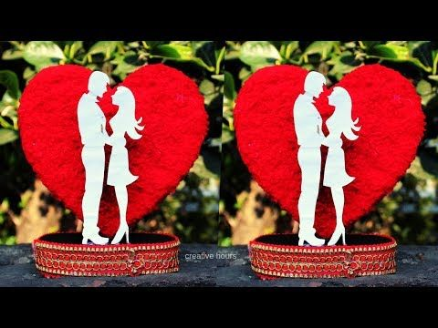 Diy Heart Showpiece Valentines Day Gift Ideas 2020 Best Out Of Waste Youtube In 2020 Valentine Day Gifts Valentines Valentine Gifts