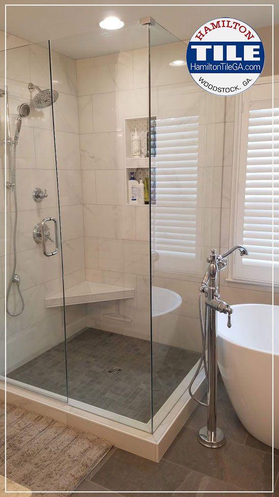 New Bathroom Shower Remodel Woodstock Ga In 2020 Shower