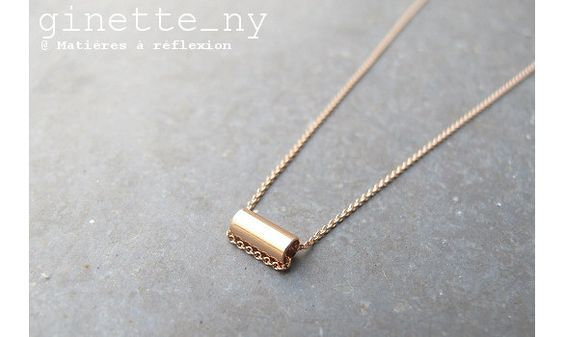 Ginette NY collier Mini-straw or rose 18 #ginette-ny #ginette_ny #necklace #collier