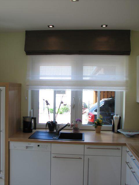 Raffrollos Ihre moderne Fensterdekoration Doppelte Raffrollos am