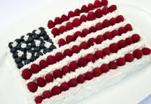 Patriotic American Flag Cake Recipe #4thofJuly #Independence #American