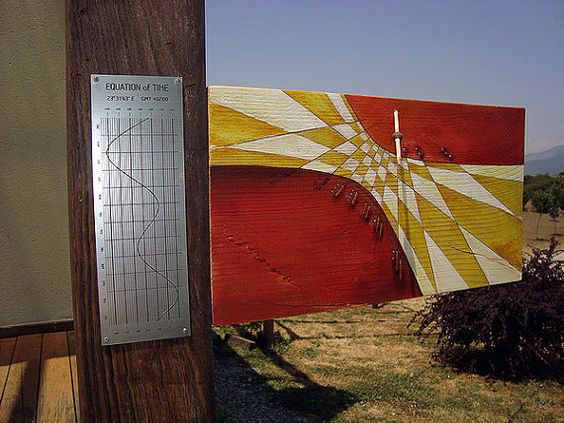 Salvaged Wood Sundial Functional art wall decor sample by ...