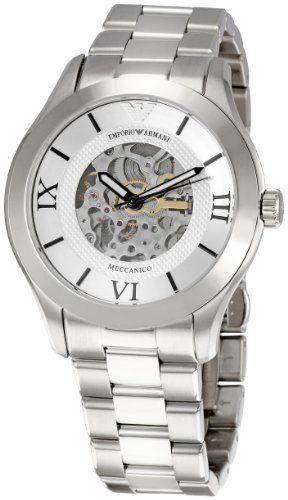 Emporio Armani Men's AR4647 Meccanico Silver Dial Watch Emporio Armani. $378.25. Save 15%!
