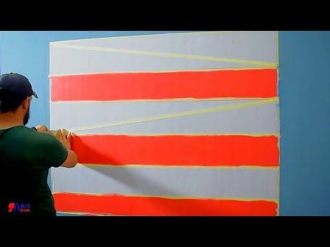 إصنع بنفسك ديكور مودرن بالشريط اللاصق بتكلفه بسيطه Super Easy Optical Illusion Design Youtube Colorful Decor Outdoor Outdoor Decor