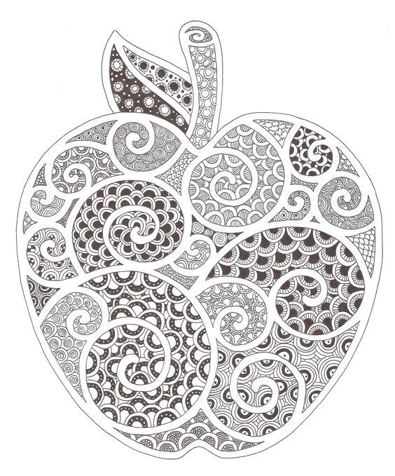 Zentangle Swirls And Apples On Pinterest