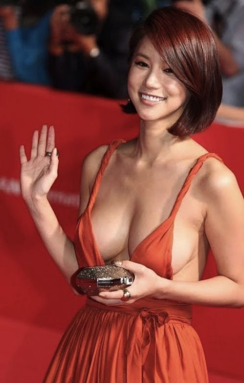Korean Actresses Plunging Neckline Dress And Busan On