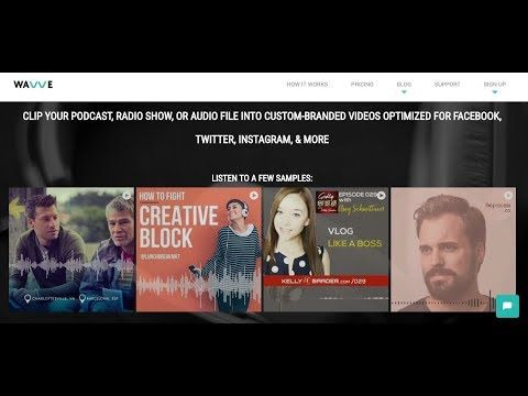 Wavve Share Audio From Your Podcast Music Or Recordings On Social Media By Turning It Into Custom Branded Videos Ready Social Media Branded Video Podcasts
