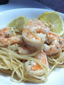 Shrimp Scampi over Pasta   DESPERATEBLOGWIVES.COM