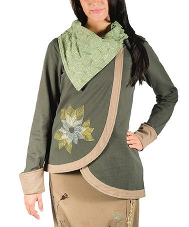 Love this Forest Floral Organic Cotton Asymmetrical Jacket - Plus Too on #zulily! #zulilyfinds