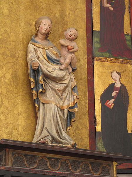 Gdańsk, Church of St. Mary, Our Lady with child