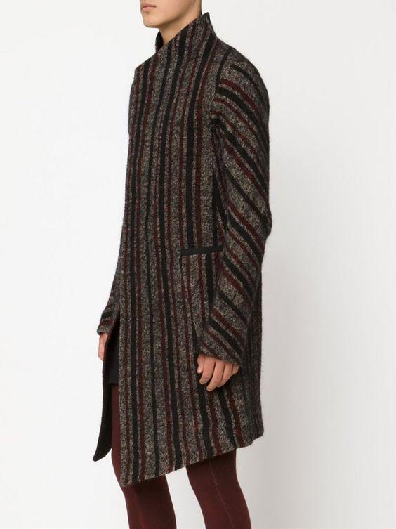 BORIS BIDJAN SABERI - Wool-Blend Striped Coat - COAT2 FI406L C5 - H. Lorenzo