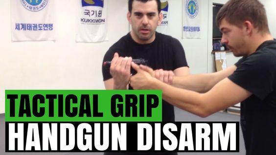 How to Perform a Tactical Grip Handgun Disarm - Gun Disarm Techniques   ...