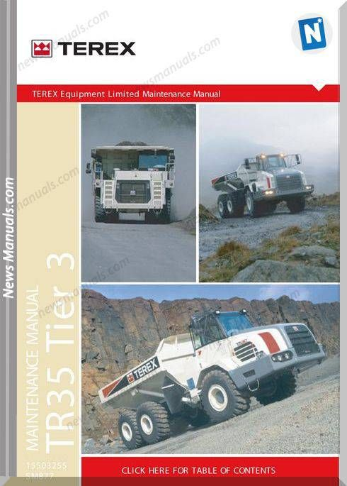 Terex Rigid Truck Tr35t3 T877 Maintenance Manual Trucks Electrical Diagram Maintenance