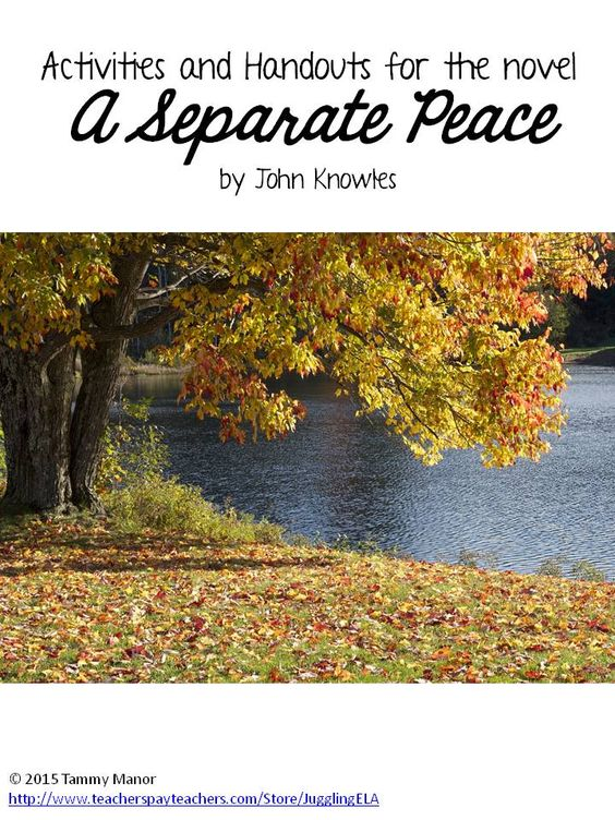 A separate peace thesis ideas
