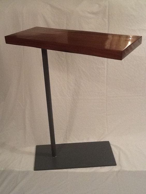Swivel Side Table ~ Side table laptop bedside swivel steelwood design