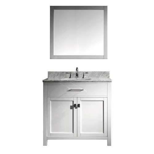 Virtu Usa Caroline 36 In Single Bathroom Vanity In White With