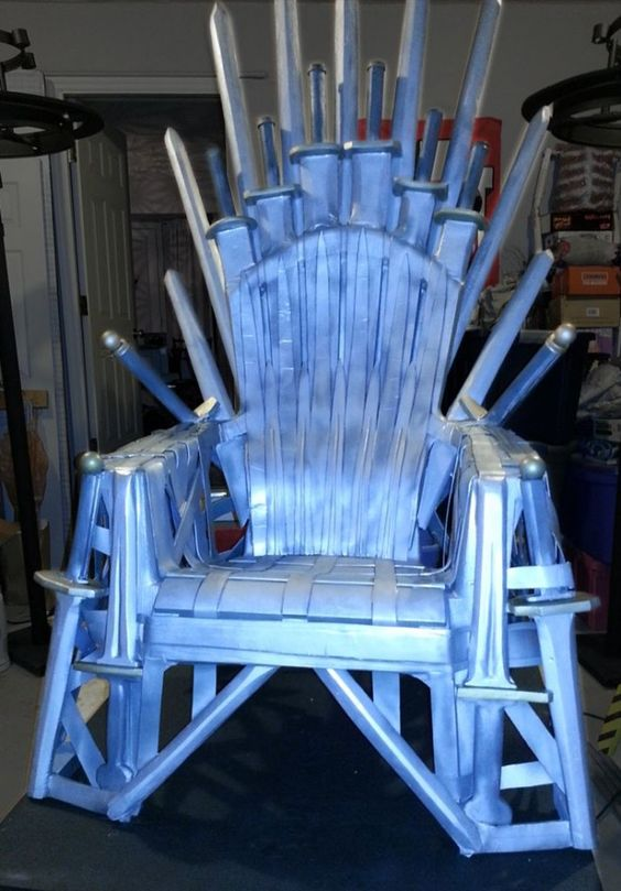 How To Make Your Own Iron Throne From A Lawn Chair