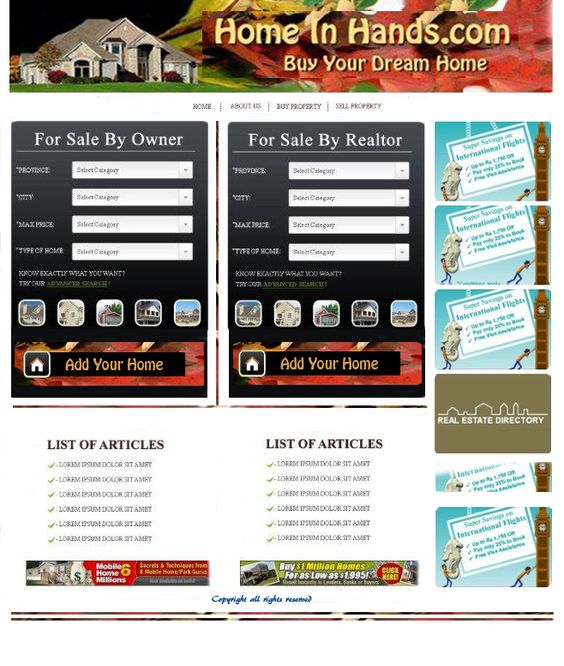 Final Custom Website Template for Home Super Web in Edmonton, AB - home for sale template