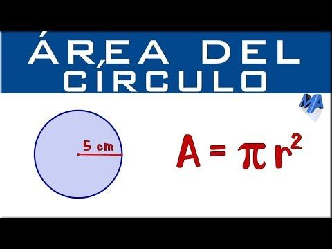 Area Del Circulo Youtube Circulo Matematicas Youtube