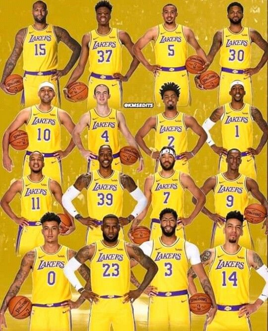 Squad 2019 2020 In 2020 Lakers Los Angeles Lakers Spalding