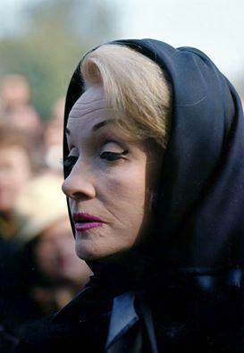 Marlene Dietrich at Edith Piaf's funeral, 1963