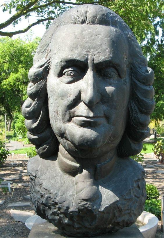 Linne Büste fotografiert in Leipzig Carl Linnaeus, Carolus Linnaeus (1707-1778) war ein schwedischer Arzt, Botaniker, Naturforscher  die weltweit gültige Nomenklatur (Namensbezeichnung) der Pflanzen.