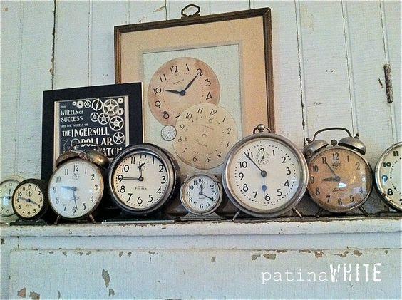Old vintage clocks