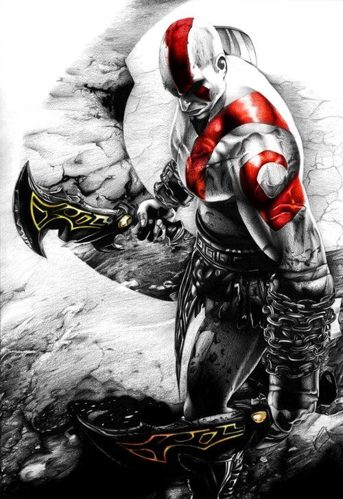 God of War Kratos. Looks like someone needs their vitamins.
