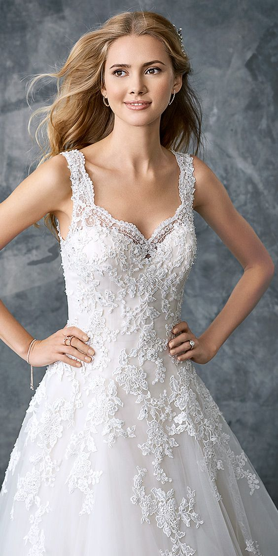 Kenneth Winston 1769 Classic Lace Ball Gown With Sweetheart Neckline Lace Thick Straps Romantic Best Wedding Dresses A Line Wedding Dress Bridal Gowns