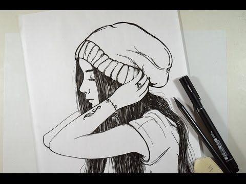 Como Desenhar Garota Tumblr Passo Apasso