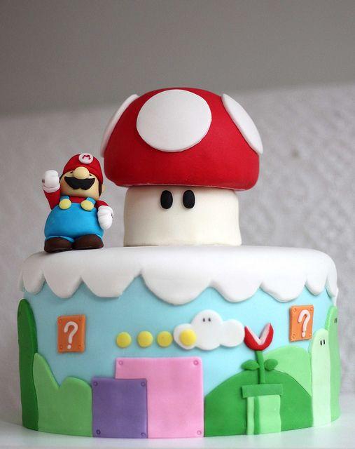 Mario Bros cake...Maddy and Ava's next birthday cake!