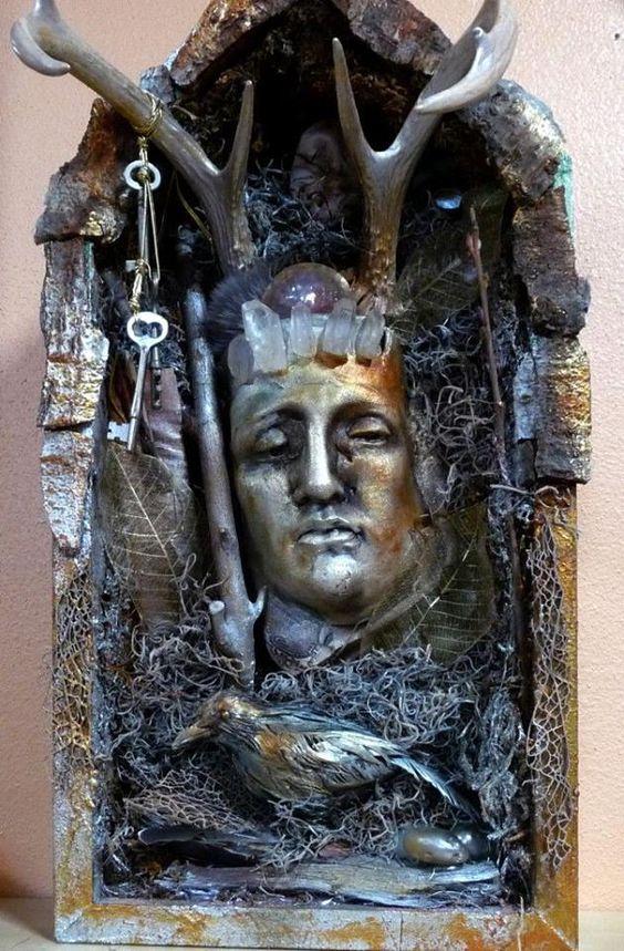 hanging goddess representation