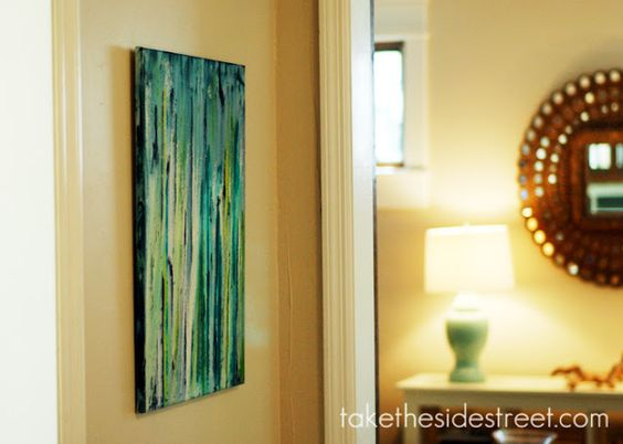 DIY drip painting from Take the Side Street