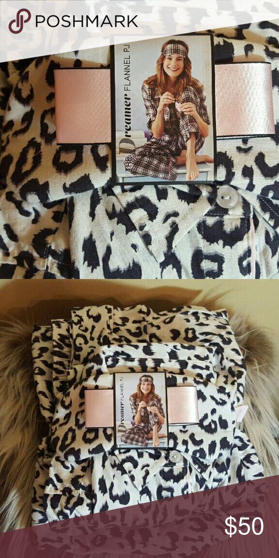 Victoria Secret Pajama Set Nwt , flannel material/ All three pieces included Victoria's Secret Intimates & Sleepwear Pajamas