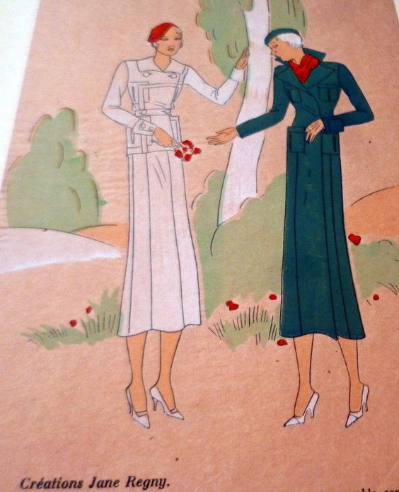 Jane Regny designs, 1930s. Image via Pinterest.