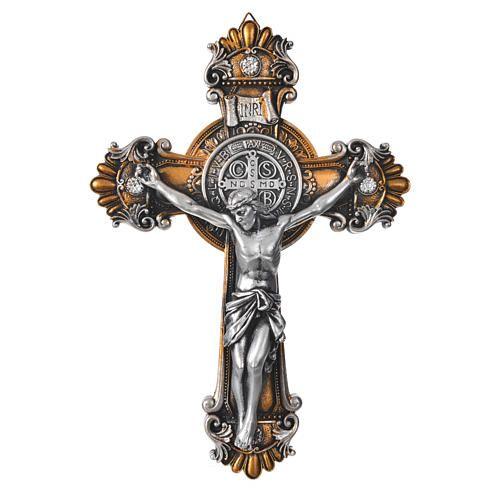 Crucifijo Medjugorie De San Benito 26x18 Cm Cruz San Benito Cruz De Dios Crucifijos