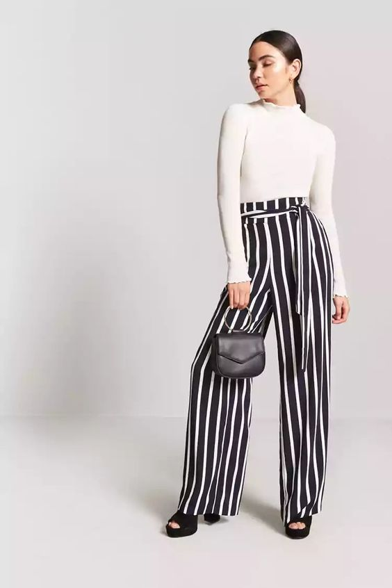 Product Name:Stripe Palazzo Pants, Category:bottoms, Price:22.9
