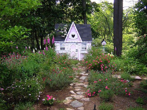 Pink Fairy Cottage by Treasured Heirlooms, via Flickr