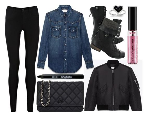 """""""street style"""" by sisaez ❤ liked on Polyvore featuring Oasis, Yves Saint Laurent, Chanel and Kevin Jewelers"""