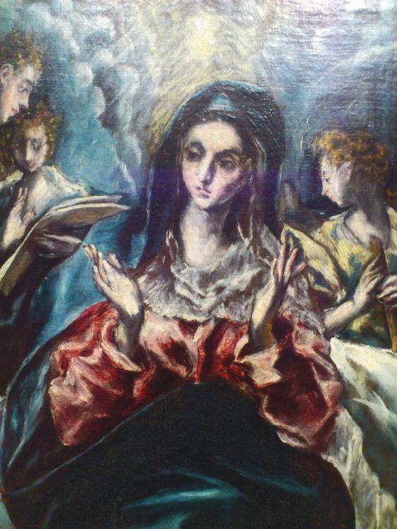 El Greco. De Italia a Toledo. Estudio técnico de las obras de la Colección Thyssen-Bornemisza Del 10 de enero al 02 de marzo de 2014. La Inmaculada Concepión. C. 1607-1613. (Detalle).