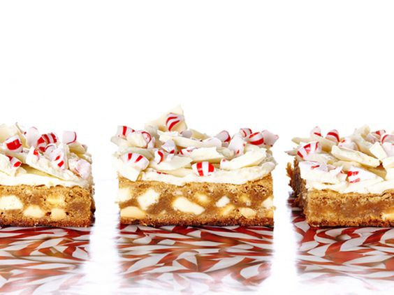 White Chocolate Peppermint Bark Blondies | iVillage.ca