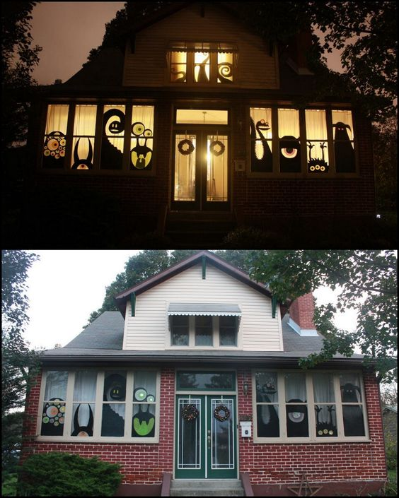 diy haunted house using boxes tissue paper etc. Black Bedroom Furniture Sets. Home Design Ideas