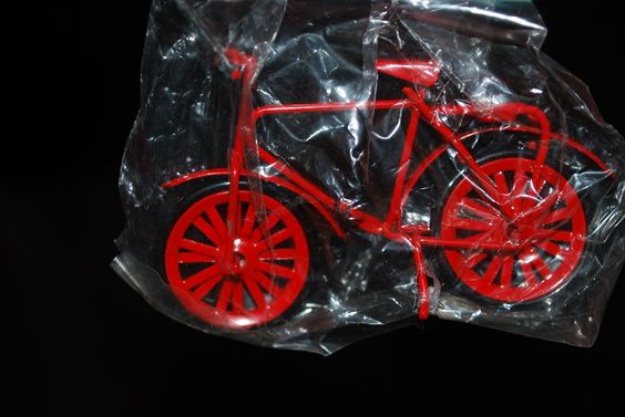 Miniature Red Bicycle for Dollhouse or Crafting. $5.00, via Etsy.