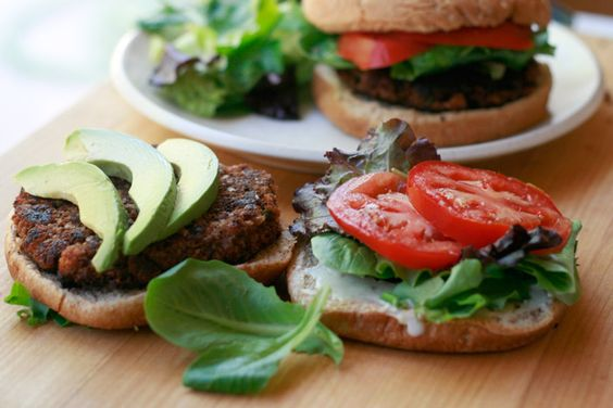 These black bean burgers are super tasty and so easy to make any night of the week. I think they're best served with avocado or guacamole, but just about anything is great.