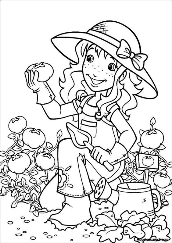 Jardins and holly hobbie on pinterest for Holly hobbie coloring pages