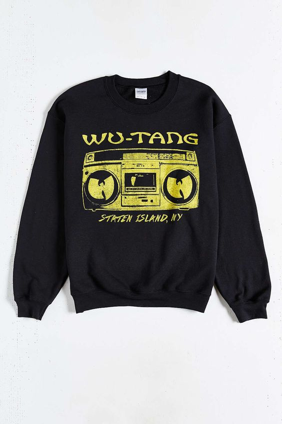 buy online 8165d 75fb2 ... Wu Tang Illicit Clothing Co Black T-Shirt Front Mens Stylin!