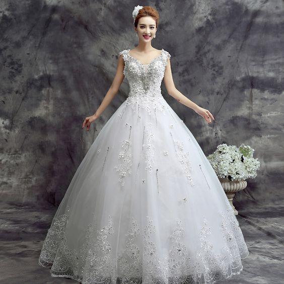 Barato Disse Mhamad mangas do vestido de casamento vestidos de noiva vestido de baile vestidos de luxo vestido de casamento para noivas, Compro Qualidade Vestidos de noiva diretamente de fornecedores da China:       Tamanho gráfico (lace Up estilo)        Terno para a altura: 162 cm-175 cm                       Tamanho US 6: (ta